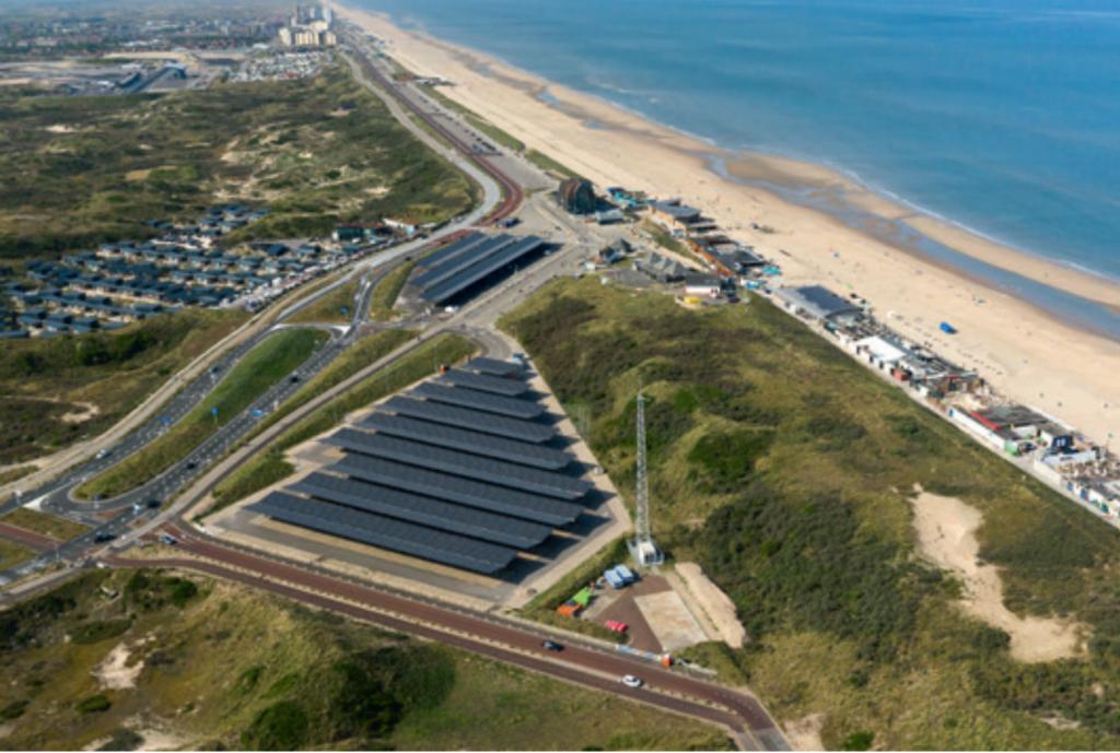 Solar carport Bloemendaal aan Zee
