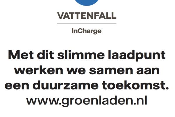 Sticker groen laden Vattenfall